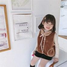 Baby Boys Girls Cartoon Fluffy Vest with Scarf