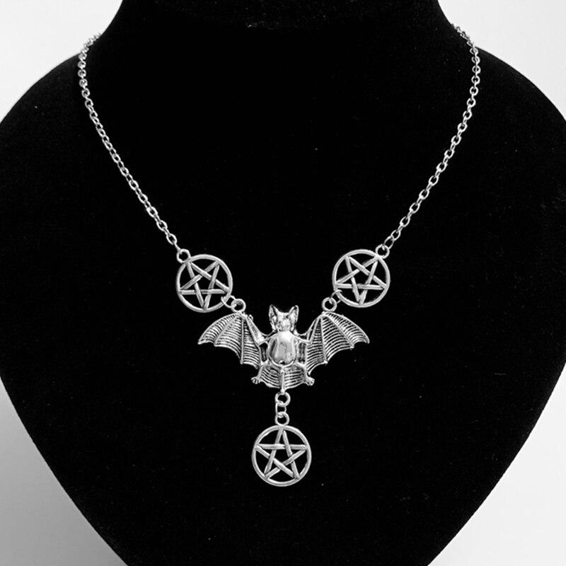 1 шт. ожерелье летучая мышь для мужчин и женщин, искусственное ожерелье на Хэллоуин, женское готическое искусственное ожерелье.