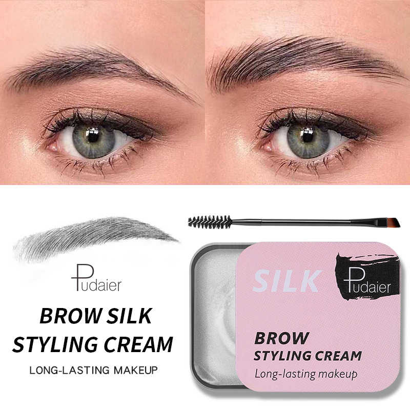 1 Pc Wenkbrauwen Zeep 3D Luchtige Wenkbrauwen Instelling Gel Waterdichte Make Tint Eye Brow Styling Gel Pommade Wenkbrauw Pen Wenkbrauw tweezer
