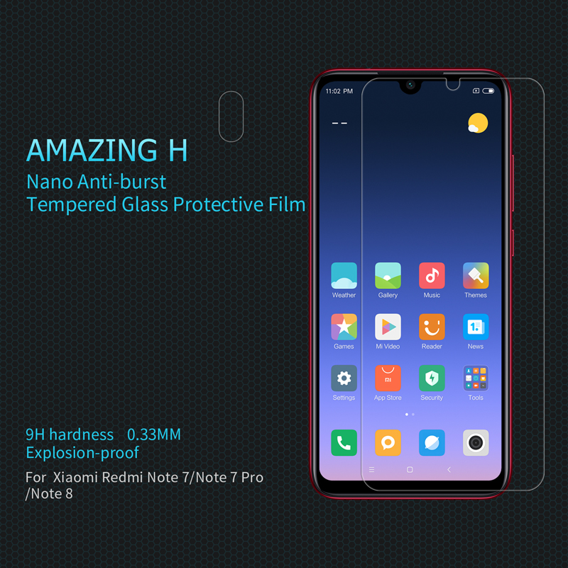 For xiaomi Redmi Note8/Note 8 Pro Glass Nillkin Amazing H / H+PRO Tempered Glass Screen Protector For Note 8 protective Glass|Phone Screen Protectors| |  - title=