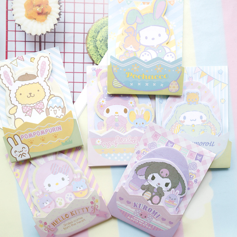 Lovely Cartoon Melody Stickers Affair Stickers Dog And Cat Office Memo Pads Stickers Posted N Times Notes