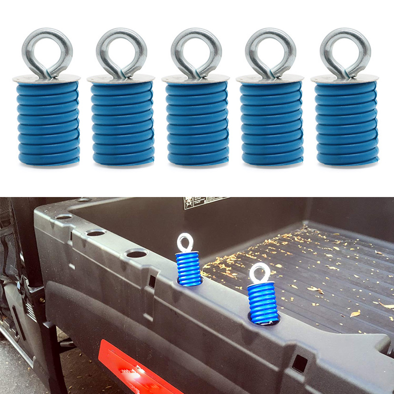 5PCS ATV Quad Quick Lock&Ride KNOB Anchors Fit Polaris Ranger/General Bed Ranger Tie Down Type Cargo Eye Bolt Fasteners Anchors