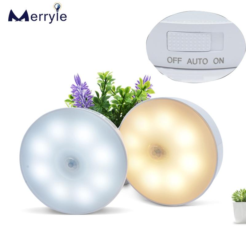 Светодиодный ночник с перезаряжаемым ИК датчиком движения, 8 бусин, 700 мАч, ночная лампа для шкафа, гардероба, спальни, кухни, чулана, лестницы