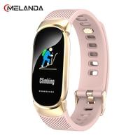 MELANDA Frauen Smart Uhr Sport Schrittzähler Smartwatch Herz Rate Blutdruck Sauerstoff Monitor Fitness Tracker Rufen Erinnerung