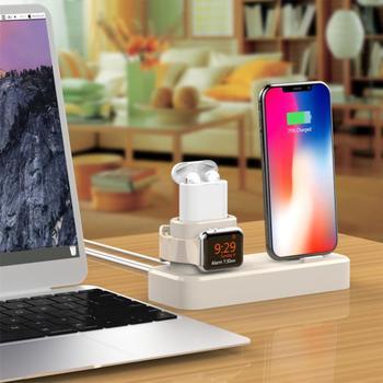 Nuevo soporte 3 en 1 para teléfono móvil, base de carga inalámbrica para Apple Watch/iPhone/airpods, soporte de carga para Teléfono Móvil Inteligente