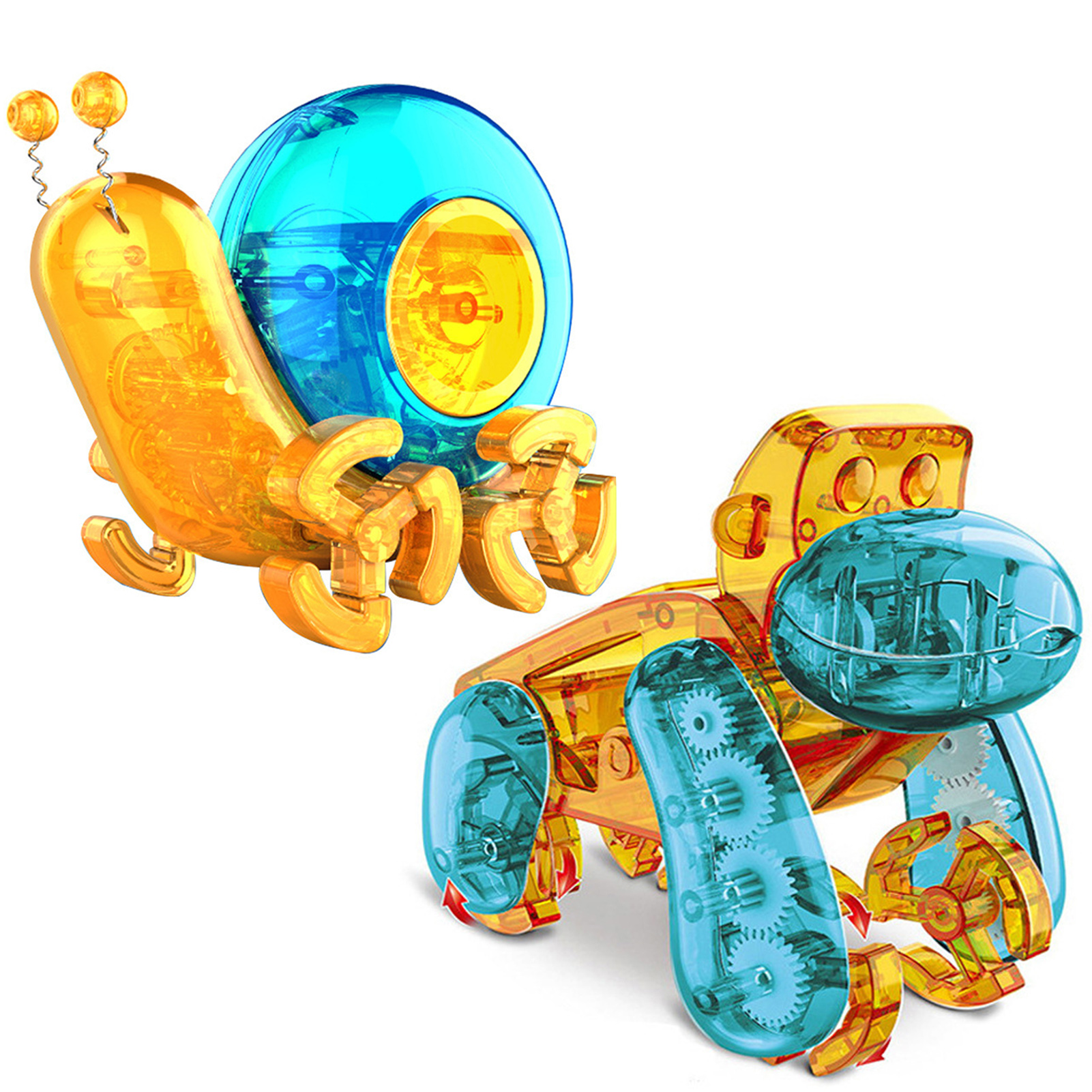 New DIY Solar Energy Self Installed Snail Chimpanzee Robot Flowerpot Scientific Experiment Educational Toy Programming Gift
