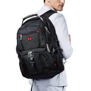 "Image 5 - ใหม่กองทัพทหารสวิสกระเป๋าเดินทางกันน้ำ 17.3 ""กระเป๋าเป้สะพายหลังแล็ปท็อปขนาดใหญ่ความจุพอร์ตชาร์จ USB กระเป๋าเป้สะพายหลัง"