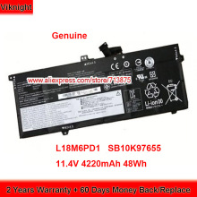 Batteria originale L18C6PD1 per Lenovo ThinkPad X390 20Q00039CD Laptop Laptop Laptop 11.4V 4220mAh 48wh