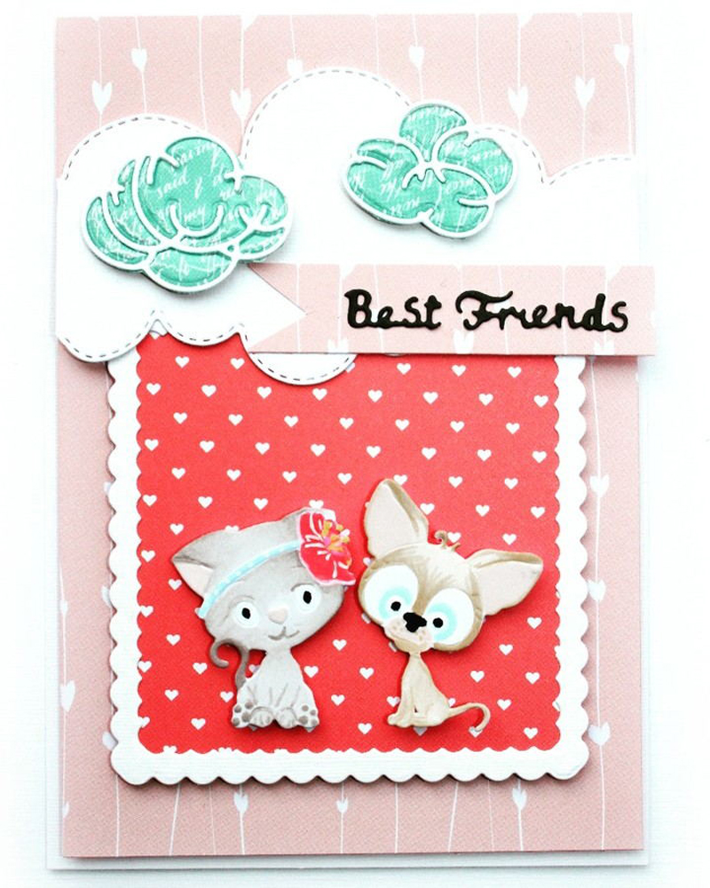 LLove CCraft Best friend 2019 NEW Metal Cutting Dies Scrapbooking for Card Making Photo Album DIY Embossing Cuts