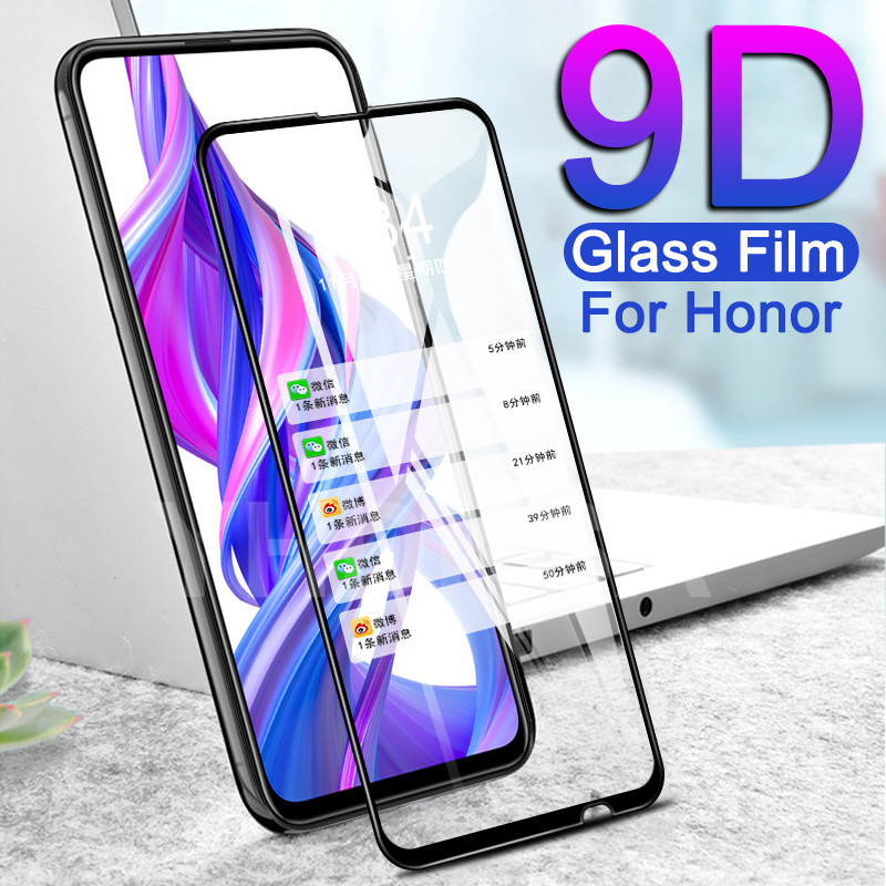 9D Protective Glass For Huawei Honor 9X 9A 9C 9S 9i 10i 20i 20S 8X 8A 8C 8S Play Tempered Screen Protector Glass Safety Film