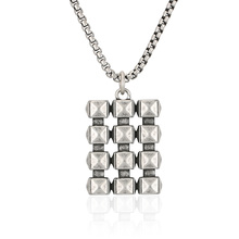 BOFEE Punk Stainless Steel Chain Geometric Necklace Pendant Hip Hop Chocker  Vintage Personalized Male Jewelry Gift Women Men