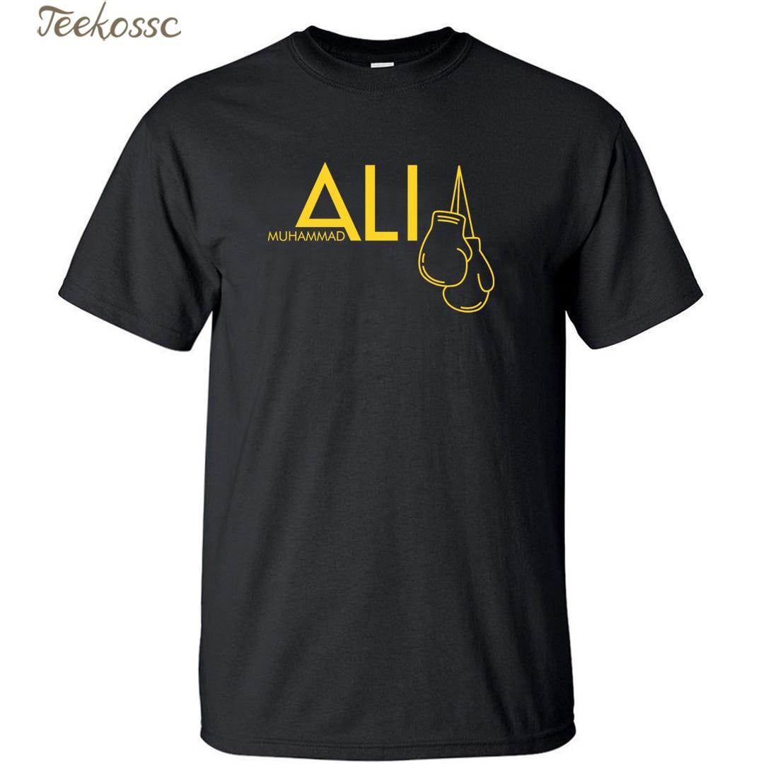 MUHAMMAD ALI Men's Top Tees 2018 Summer New Arrival Men T Shirt 100% Cotton Fitness Short Sleeve Hip Hop Streetwear Male T-Shirt