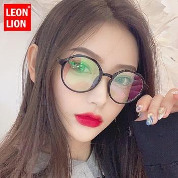 LeonLion Fashion Retro Sunglasses Women Transparent Vintage Brand Glasses for Women/Men Designer Oculos De Sol