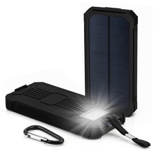 Solar Power Bank Waterproof 10000mAh Solar Charger 2 USB Ports External Charger Mini Powerbank for Xiaomi IPhone X Battery Pack все цены