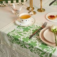Итальянская усадьба Зеленые Синие Цветочные льняные свадебные салфетки столовые приборы 45x45 см 40x50 см