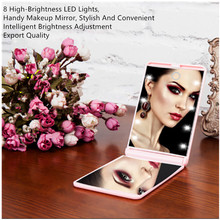 Makeup Mirror With 8 LED Cosmetic Touch Dimmer Switch Electroplated Body Lighted