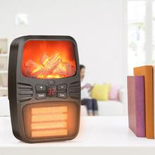 Space Heater Electric Flame Small Adjustable For Home Office Dormitory