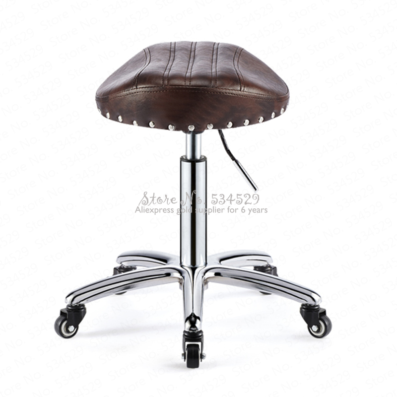 30%B Beauty Stool Barber Shop Chair Hair Salon Rotating Lift Stool Nail Makeup Salon Pulley Workbench