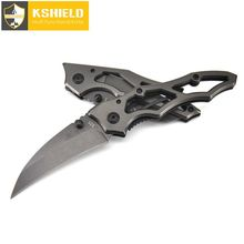 KSHIELD Mini Karambit Folding Knife Survival Faca Outdoor Camping Pocket Keychain Tactical Hunting Knives Tools Navajas