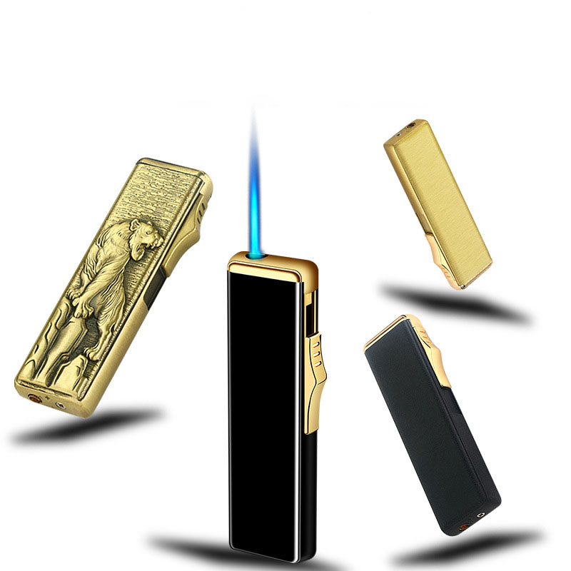 Sliver Gas Lighter Turbo Lighters smoking accessories Cigarette Lighter Gadgets For Men Creative Electronic Lighters