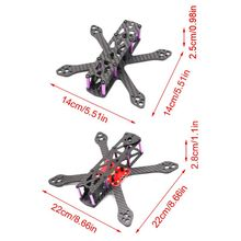цена на 3/5 inch 3K Full Carbon Fiber Freestyle Frame for FPV Racing Quadcopter Drone
