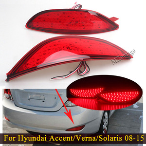 For Hyundai Accent/Verna/Solaris 2008-2015 For Brio LED Bulbs Rear Brake Light Bumper Reflector Stop Lamp Tail Light