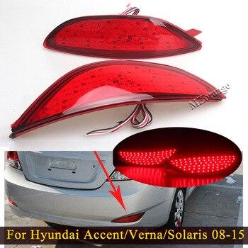 For Hyundai Accent/Verna/Solaris 2008-2015 For Brio LED Bulbs Rear Brake Light Bumper Reflector Stop Lamp Tail Light