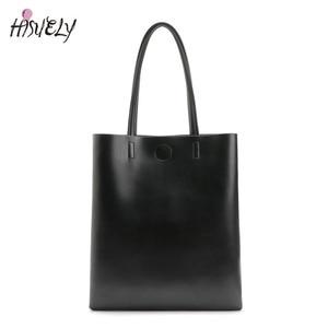 Image 1 - 2020新ファッション女性革ハンドバッグショルダーバッグ黒大容量の高級トートバッグデザイン因果バケット高品質
