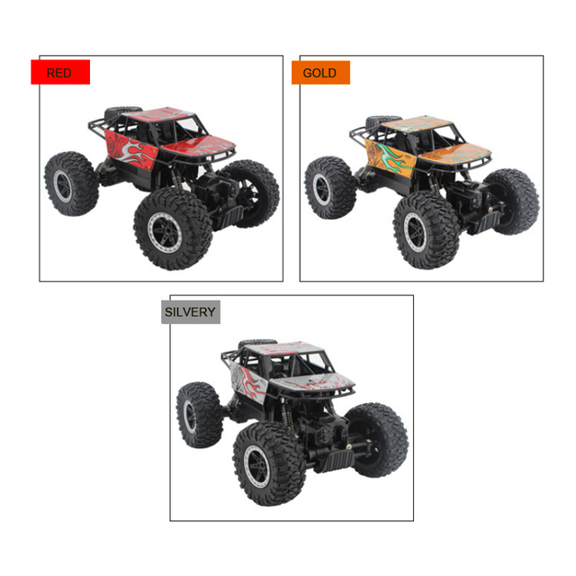 2.4Ghz Four-wheel drive rc car toy off-road vehicle mountain big foot remote control car  Alloy climbing car children's toy 4
