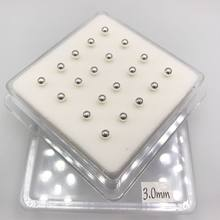 3.0mm forma bola prata esterlina prego nasal punctura plata esterlina moda jóias