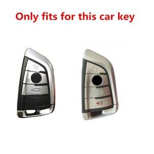 Image 2 - 人工クリスタルキーケースカバーキーケース保護用 BMW X5 F15 X6 F16 G30 7 シリーズ G11 x1 F48 F39 ツーインワン