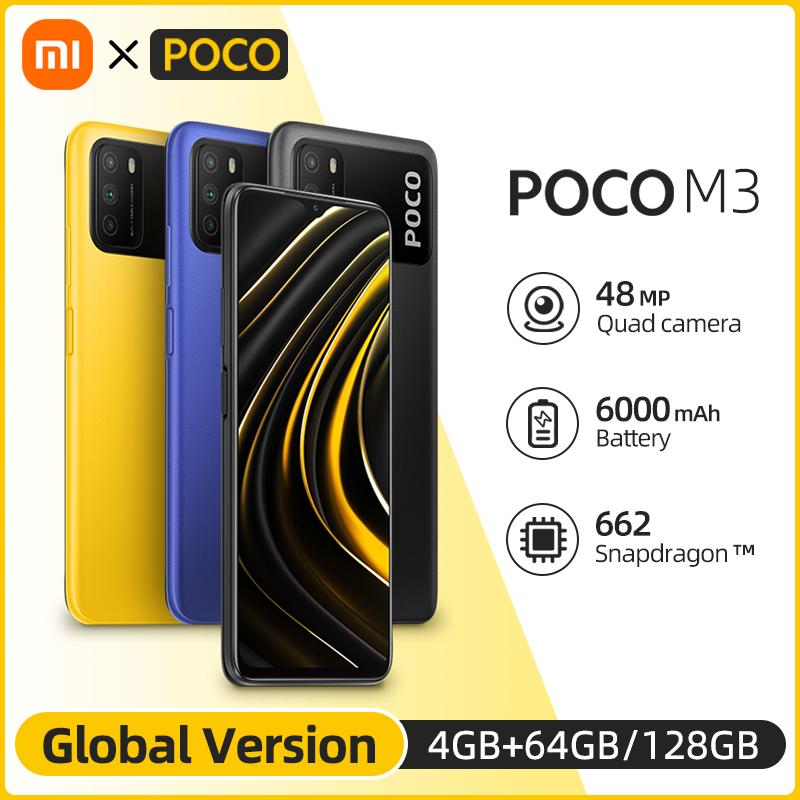 In Stock Global Version POCO M3 Smartphone Snapdragon 662 Octa Core 4GB 64GB/128GB 6.53\