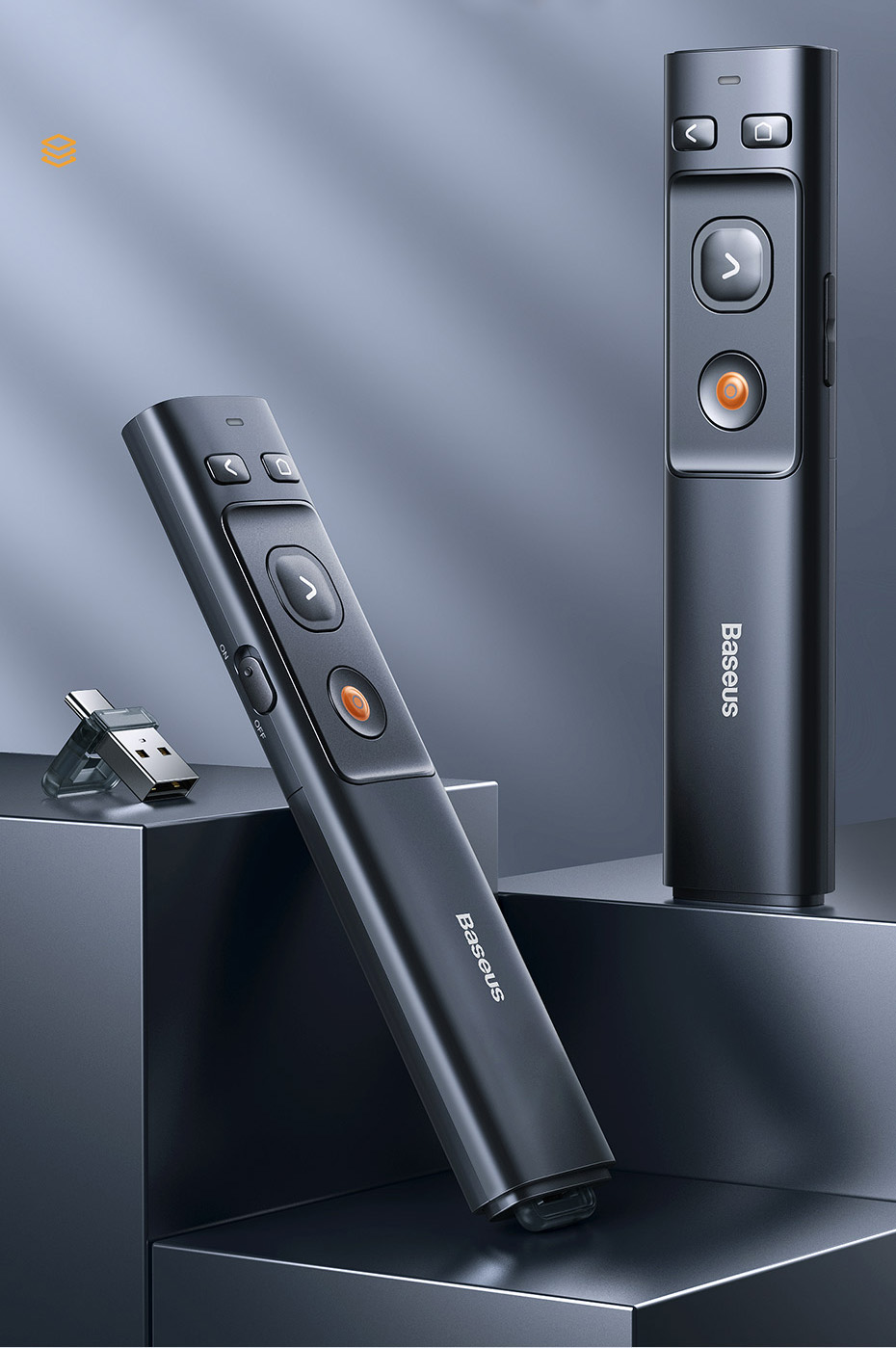 Baseus Orange Dot Wireless Presenter 5