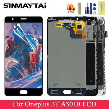 Original For Oneplus 3T Display Touch Screen For OnePlus 3T One Plus 3T LCD Replacement Parts For 1+3t A3010 Digitizer LCD Frame
