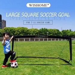 WISHOME складные большие футбольные ворота для двора, квадратные ворота, Футбольная сетка для детей, семейное Уличное оборудование для спортив...