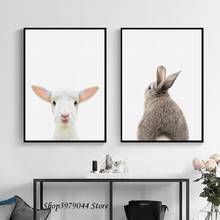 купить Animal Sheep Poster Wall Art Canvas Painting Rabbit Posters And Prints Wall Pictures For Living Room Decoration Home Unframed по цене 185.62 рублей