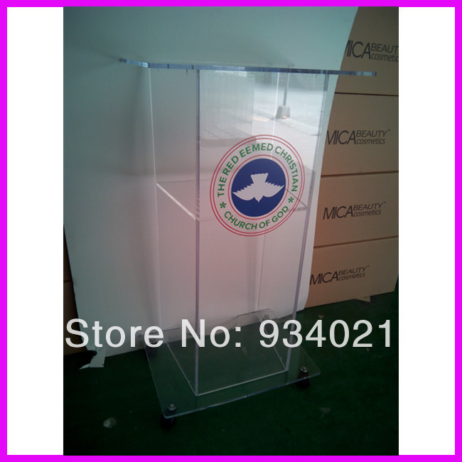 Contemporary Acrylic Church Podiums Conference Lectern Podium