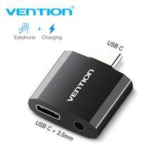 Адаптер для наушников Vention с USB C на 3,5 мм, зарядное устройство с аудиоразъемом типа C 3,5, конвертер для наушников типа C для Xiaomi Mi6 Huawei P20 Pro