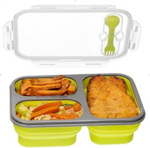 Collapsible Lunchbox Microwave Food-Storage 100pcs Bowl Oven Large-Capacity Silicone