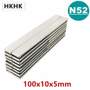 N52 100x10x5 Strong Sheet Rare Earth Magnet Thickness 5mm Block Rectangular Neodymium Magnets 100x10x5mm Strip Magnet 100mm 10 20pcs n52 40x10x4 mm super strong sheet rare earth magnet thickness 4mm block rectangular neodymium magnets 40mmx10mmx4mm