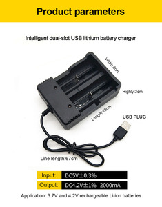 Image 5 - PHOMAX 18650 Dual Slot LED Smart Display Light Fast Charge 4.2V 22650 18490 18500 26500 IMR/Li ion Rechargeable Battery Charger