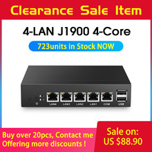 Mini PC Fanless Mini PC pFsense Celeron J1900 Quad Core 4 Gigabit LAN Firewall Router Finestre 10 Thin Client 4 RJ45 VGA mini Computer(China)