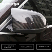 Door side rear view mirror cover for bmw X3 f25 X4 f26 X5 f15 X6 f16 carbon fiber and black rear view mirror trim casing