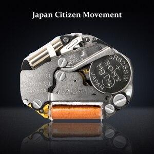 Image 5 - Montre en bois de marque Design rétro élégant bois montres japon citoyen mouvement hommes montres à Quartz cadeau pour hommes