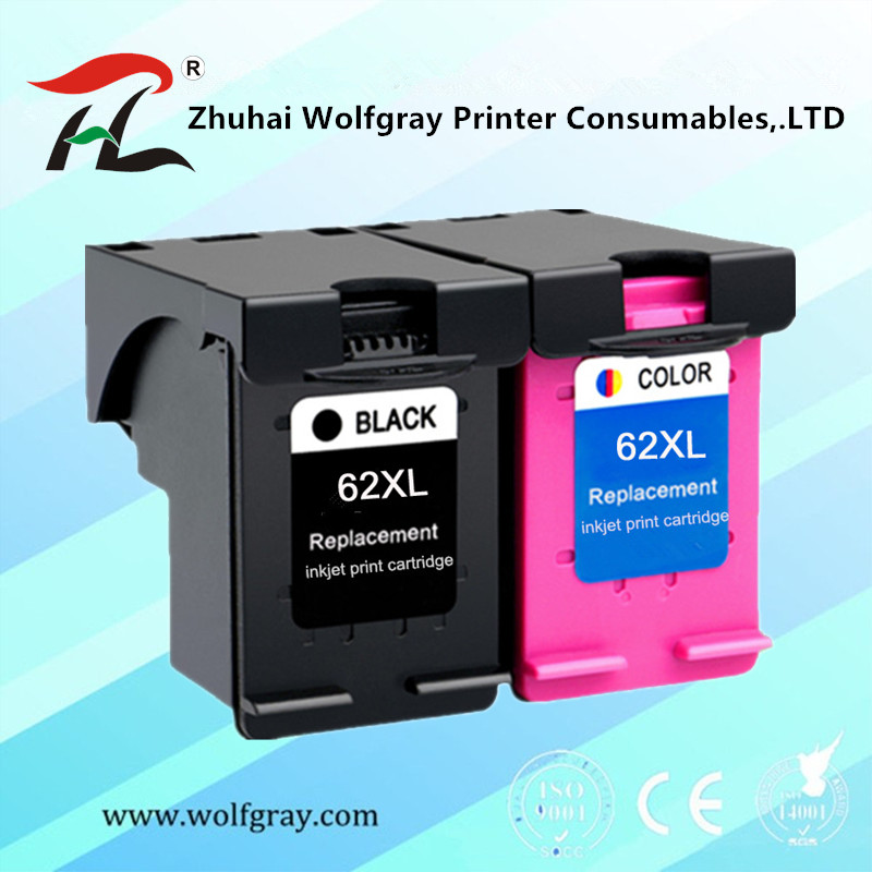 2PK Compatible Ink Cartridge 62XL For Hp62 62 5640 5660 7640 5540 5544 5545 5546 5548 Officejet 5740 5741 5742 5743 5744