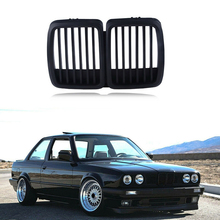 1set ABS Plastic Front Grill Hood Kidney Solid Plastic Matte Black Front Grille M3 For BMW 3 Series E30 1982-1994 цена