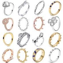 Octbyna классический кристалл бренд кольцо для женщин Циркон высокого качества бант-узел Корона талисманы Свадебное обручальное кольцо Ювелирные изделия Подарки
