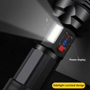 Image 3 - Torcia elettrica tattica del Cree xhp70.2 Ricaricabile lungo tiro di 4200 lumen 8000 mAh grande capacità della batteria al litio Potente torcia led