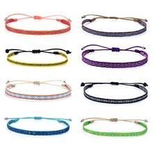 Мужские и женские браслеты в стиле бохо KELITCH, плетеные браслеты в стиле бохо, этнический подарок