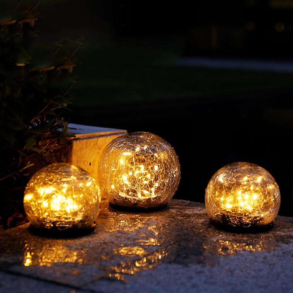 LEADLY Crack Ball газонная лампа светодиодный светильник на солнечной батарее водонепроницаемый настенный светильник на солнечной батарее s наружный Солнечный Ландшафтный шаровой светильник|Газонные лампы|   | АлиЭкспресс